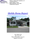 Sample Mobile Home Inspection Report
